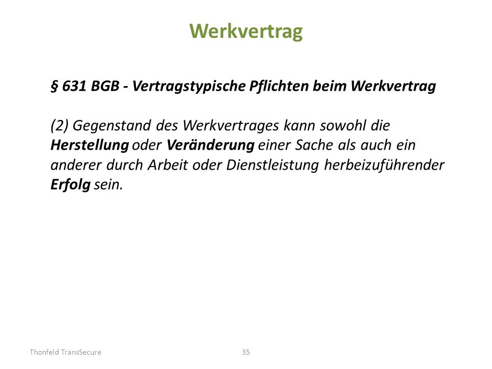 Werkvertrag