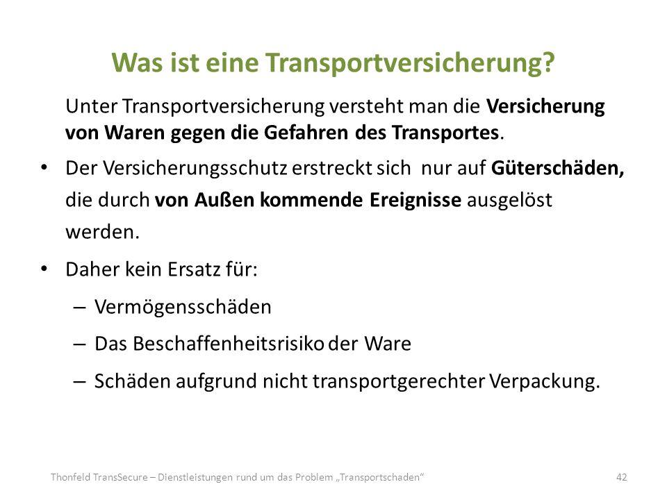 volle deckung transportversicherung beispiel
