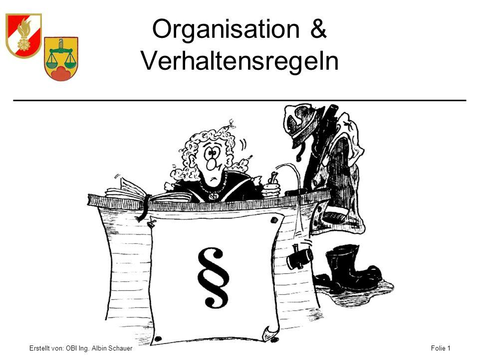 Organisation & Verhaltensregeln