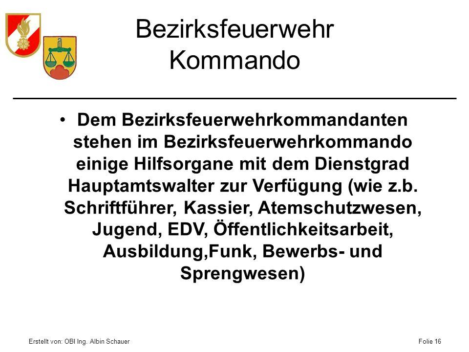 Bezirksfeuerwehr Kommando