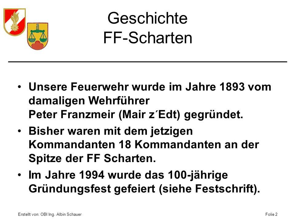 Geschichte FF-Scharten