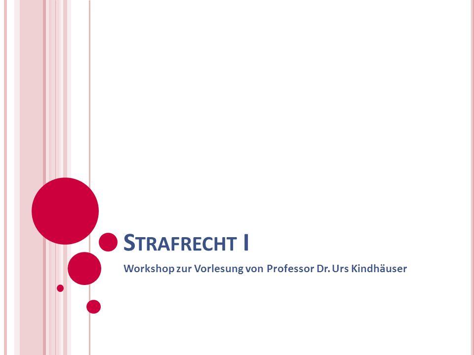 Workshop zur Vorlesung von Professor Dr. Urs Kindhäuser