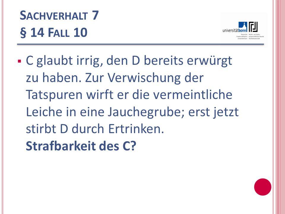 Sachverhalt 7 § 14 Fall 10
