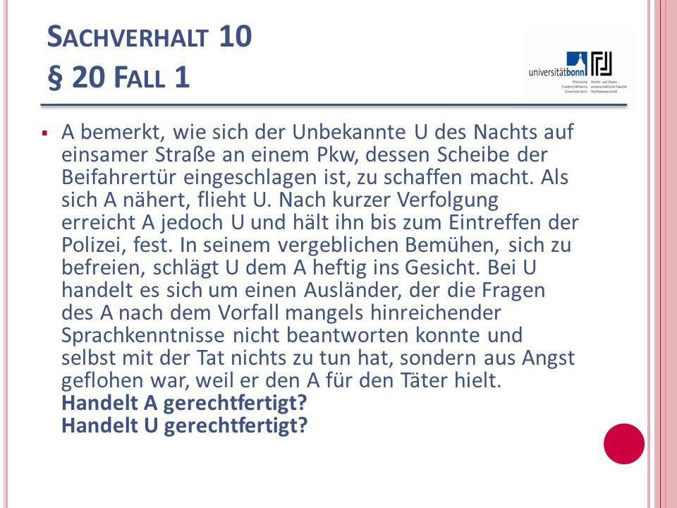 Sachverhalt 10 § 20 Fall 1