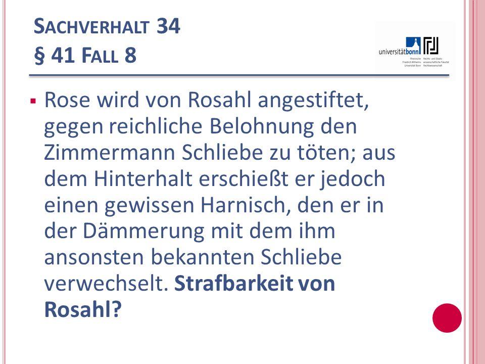 Sachverhalt 34 § 41 Fall 8
