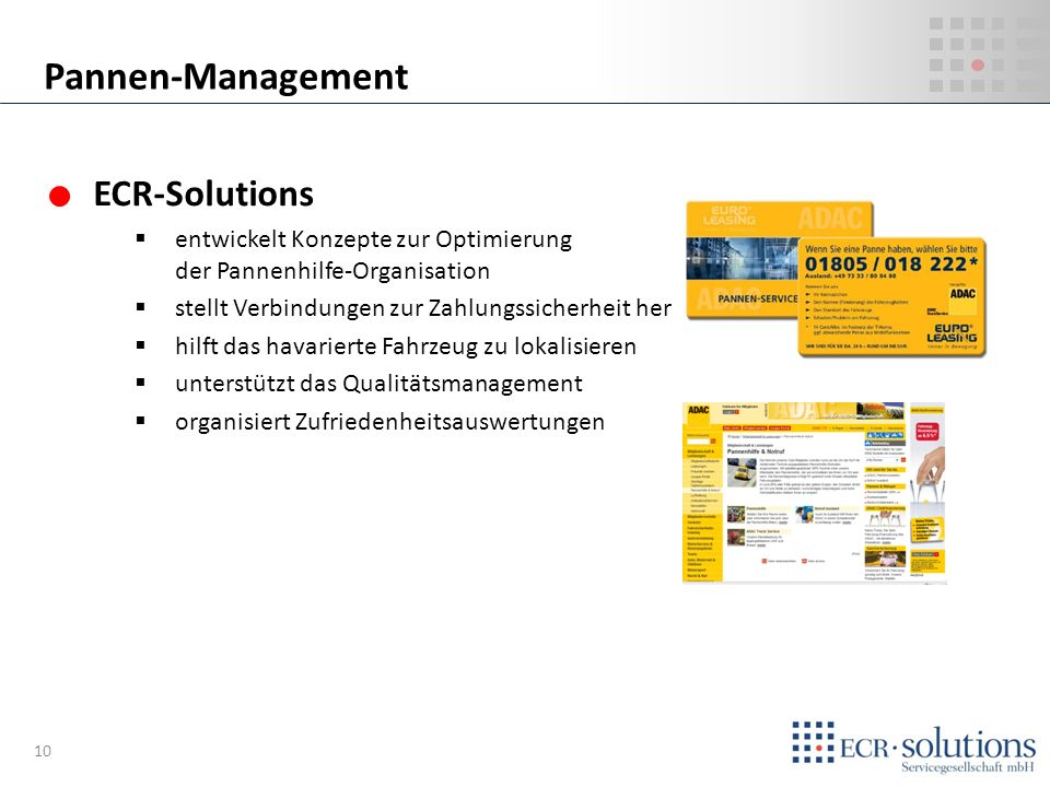 Pannen-Management ECR-Solutions