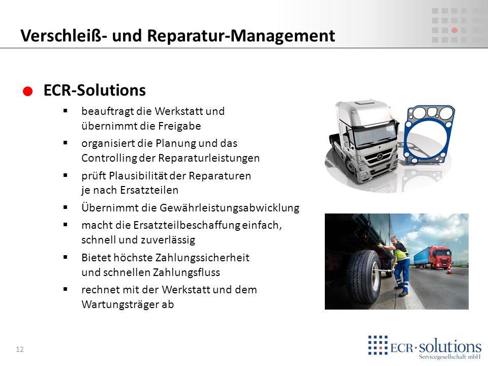 Verschleiß- und Reparatur-Management