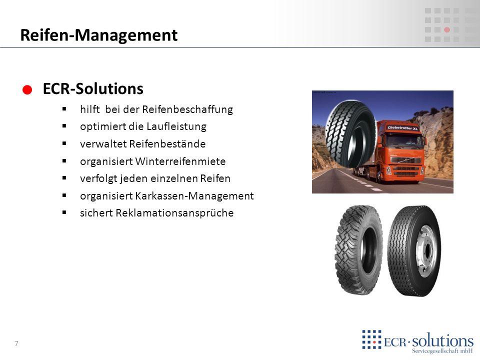 Reifen-Management ECR-Solutions hilft bei der Reifenbeschaffung