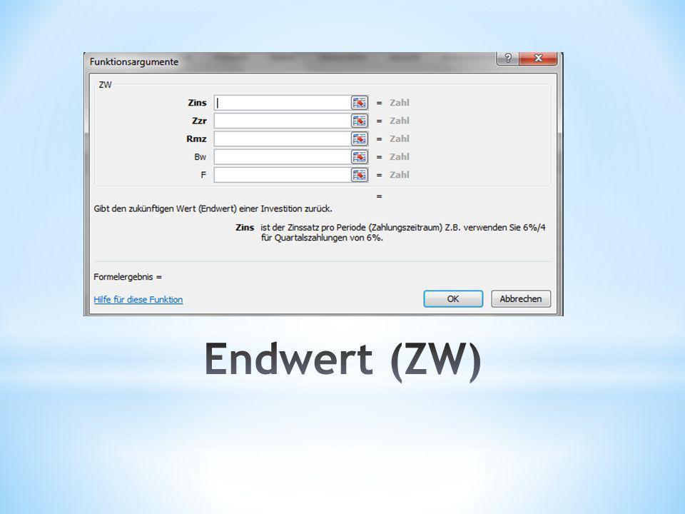Endwert (ZW)