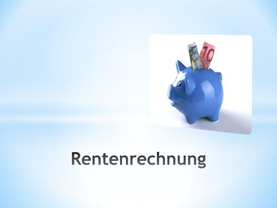 Rentenrechnung