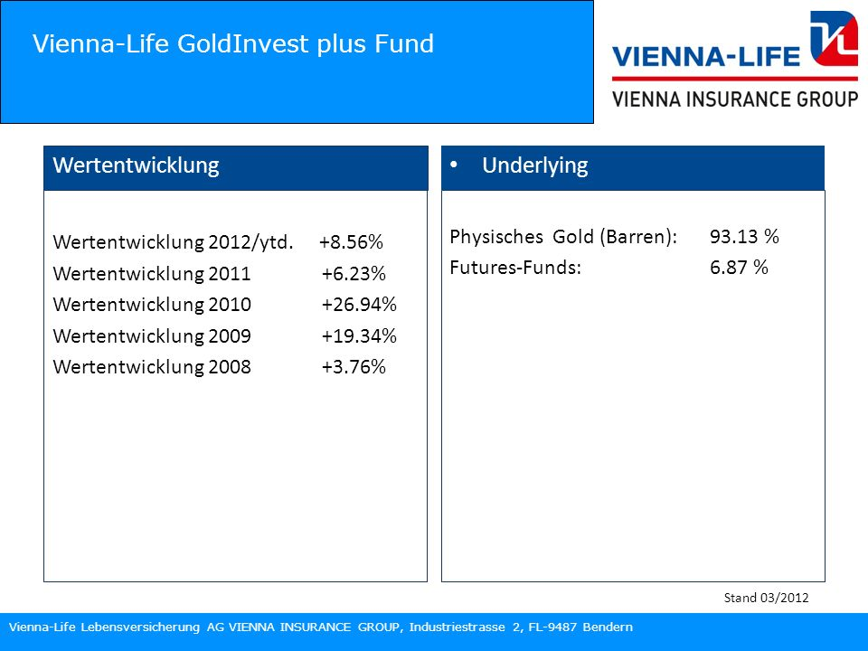 Vienna-Life GoldInvest plus Fund
