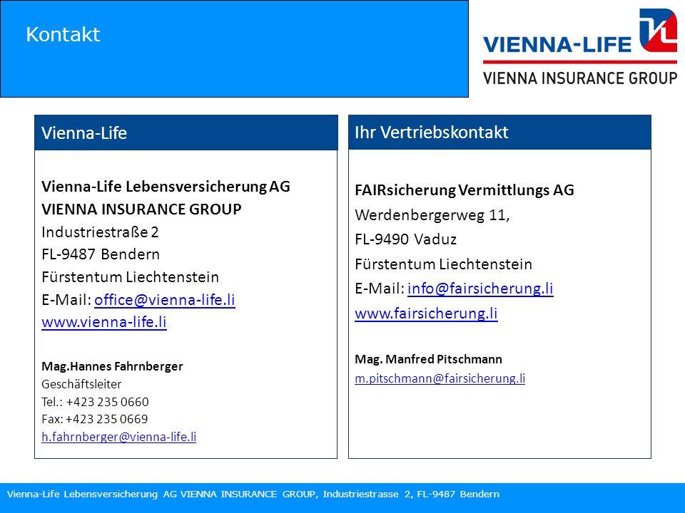 Kontakt Vienna-Life Ihr Vertriebskontakt