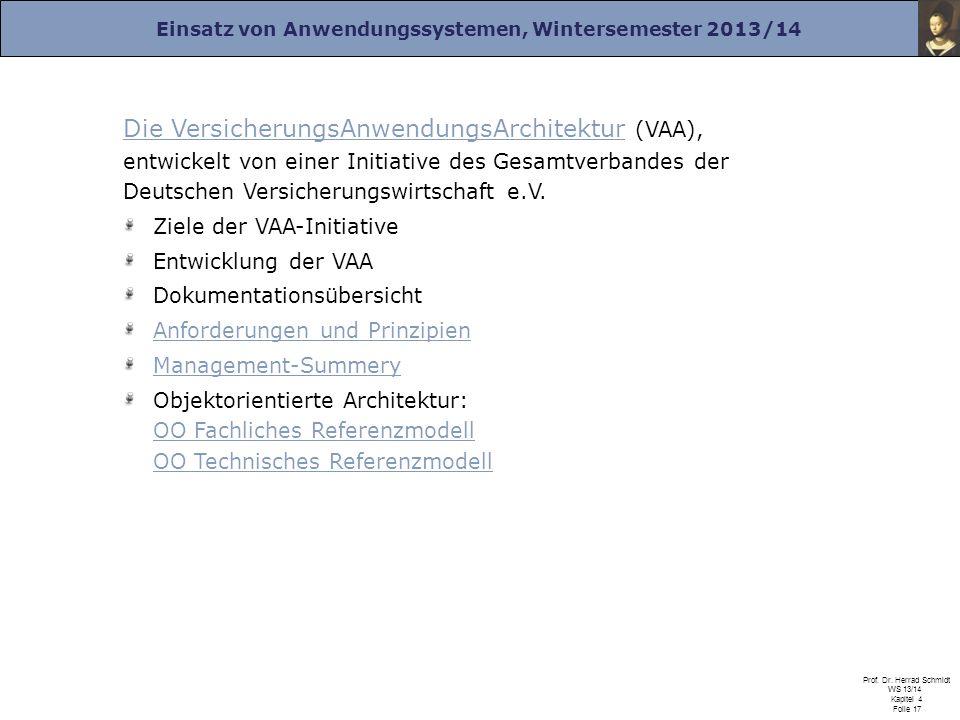 Die VersicherungsAnwendungsArchitektur (VAA), entwickelt von einer Initiative des Gesamtverbandes der Deutschen Versicherungswirtschaft e.V.