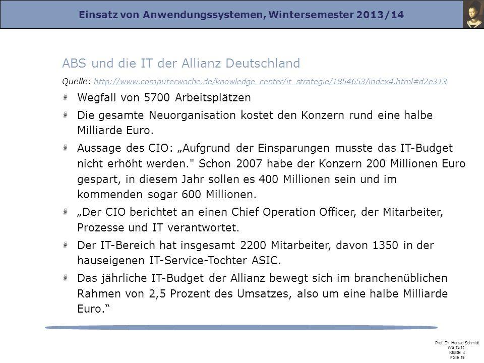 ABS und die IT der Allianz Deutschland