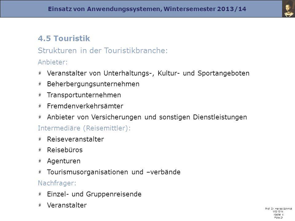 Strukturen in der Touristikbranche: