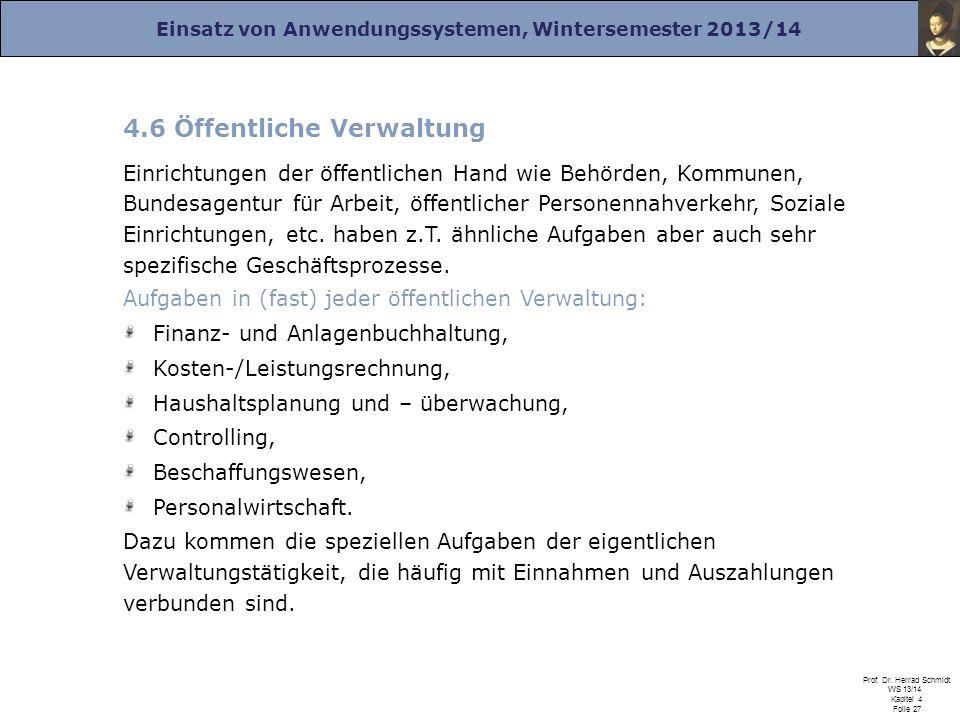 4.6 Öffentliche Verwaltung