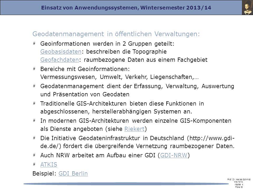 Geodatenmanagement in öffentlichen Verwaltungen: