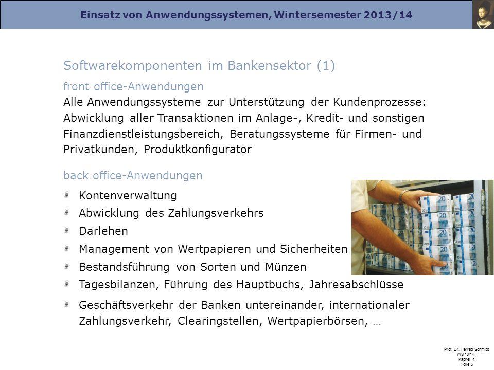 Softwarekomponenten im Bankensektor (1)