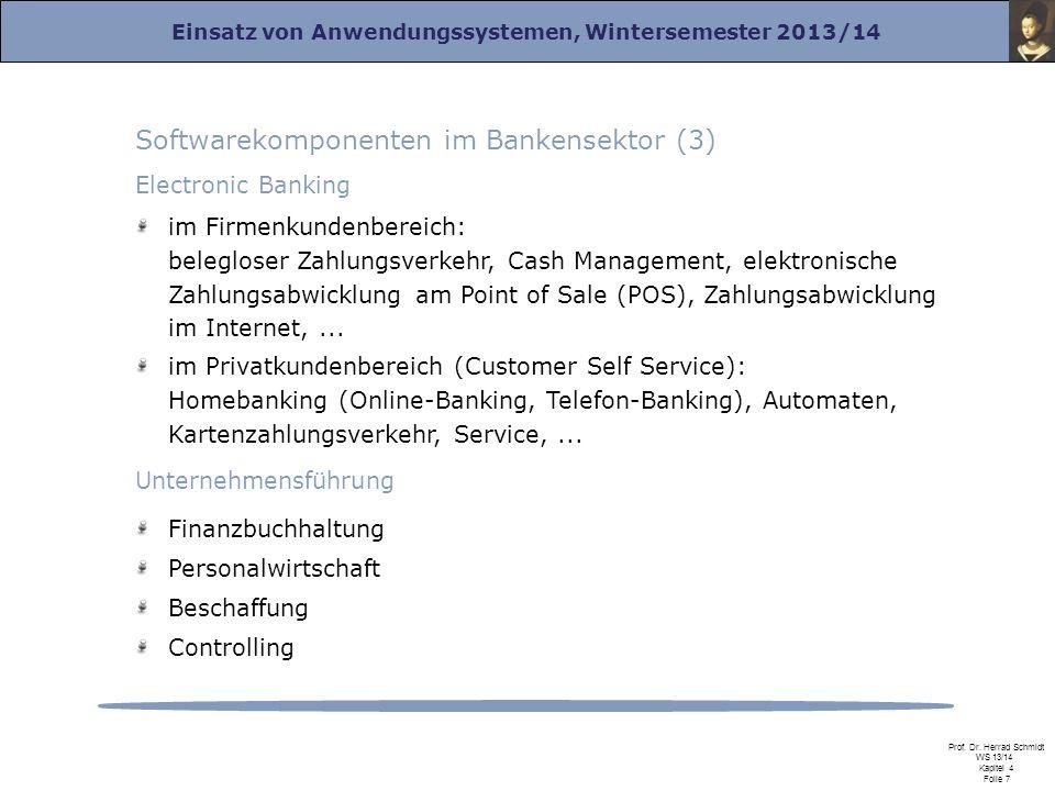 Softwarekomponenten im Bankensektor (3)