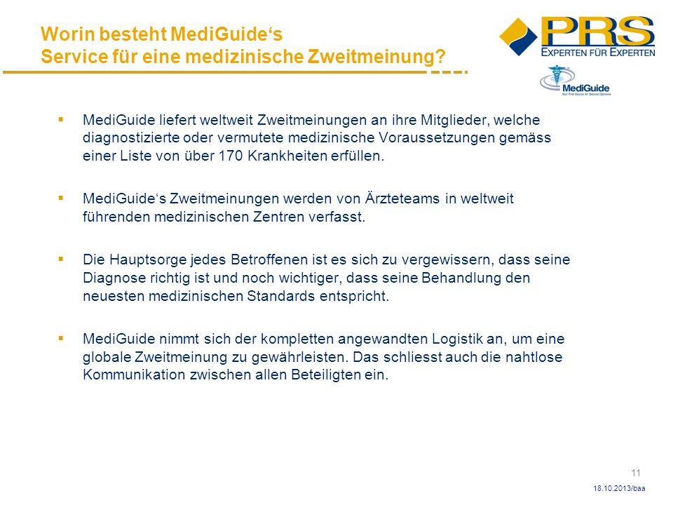 Worin besteht MediGuide's Service für eine medizinische Zweitmeinung