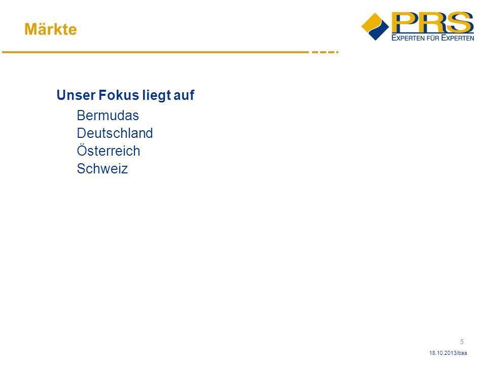 Märkte Unser Fokus liegt auf Bermudas Deutschland Österreich Schweiz