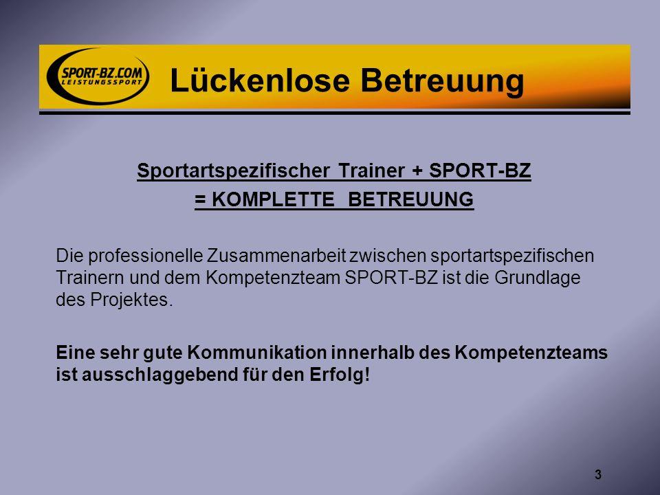 Sportartspezifischer Trainer + SPORT-BZ