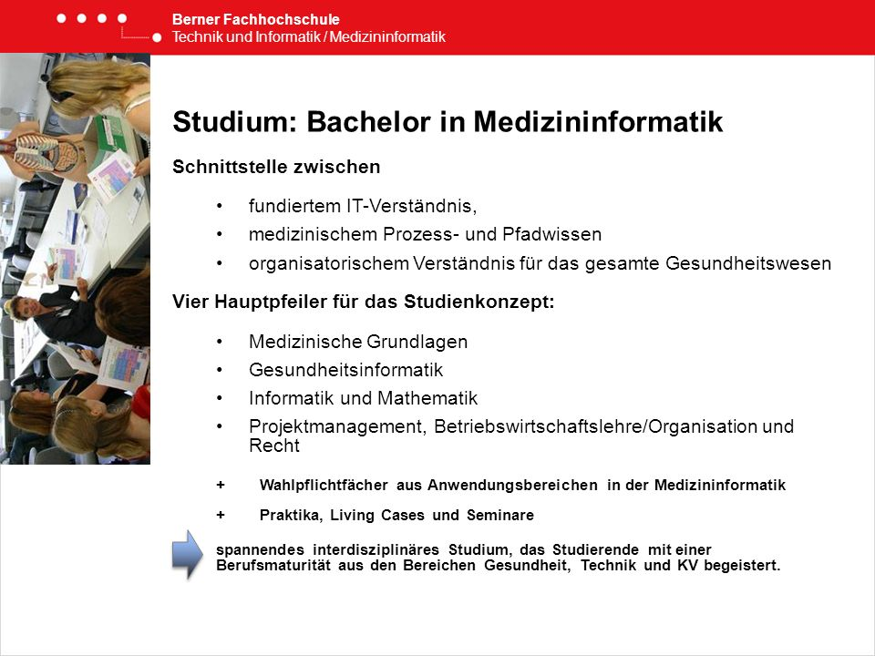 Studium: Bachelor in Medizininformatik