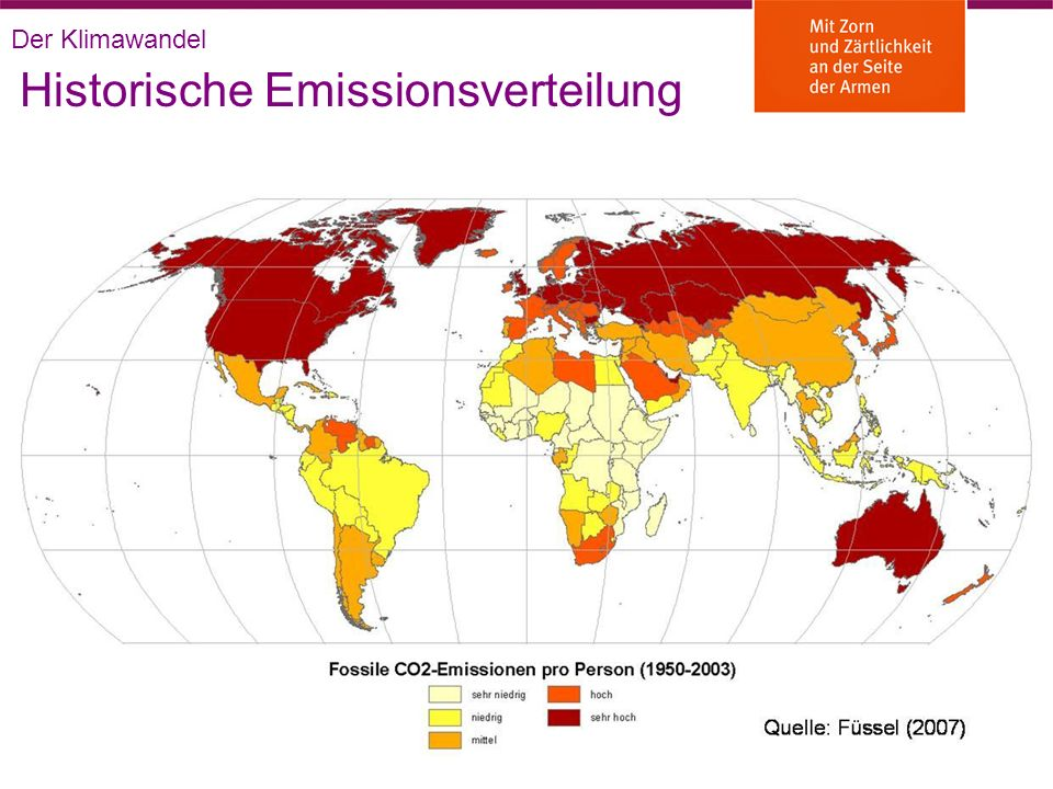 Historische Emissionsverteilung