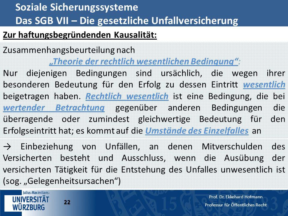 """""""Theorie der rechtlich wesentlichen Bedingung :"""