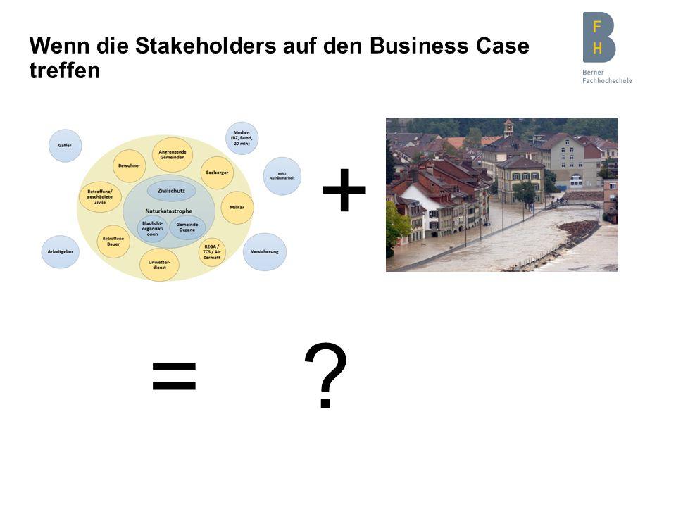 Wenn die Stakeholders auf den Business Case treffen