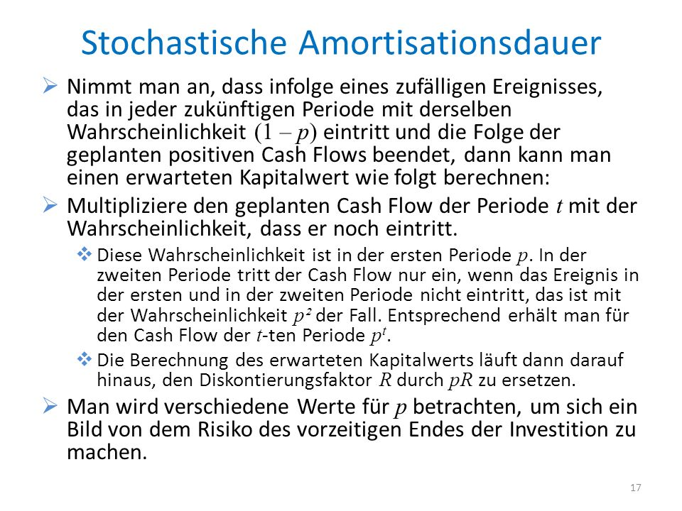 Stochastische Amortisationsdauer