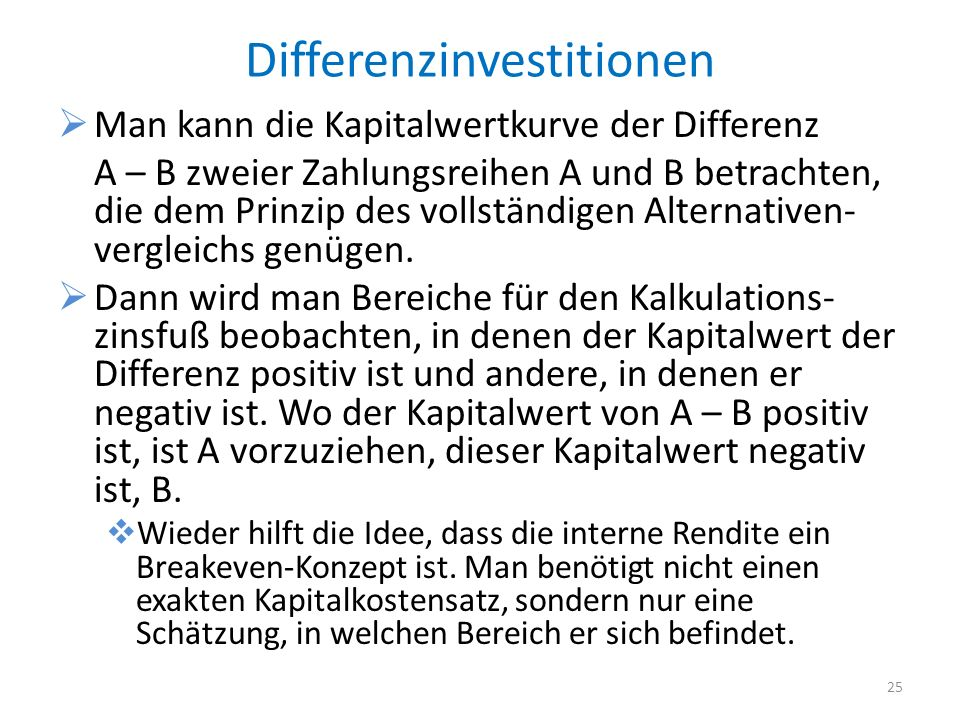 Differenzinvestitionen