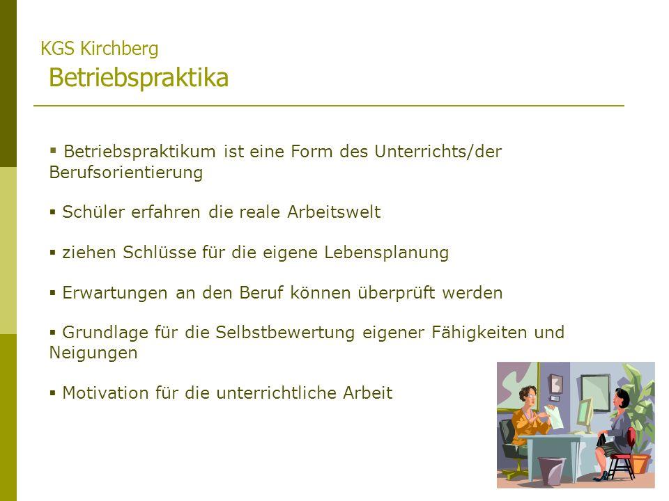 KGS Kirchberg Betriebspraktika