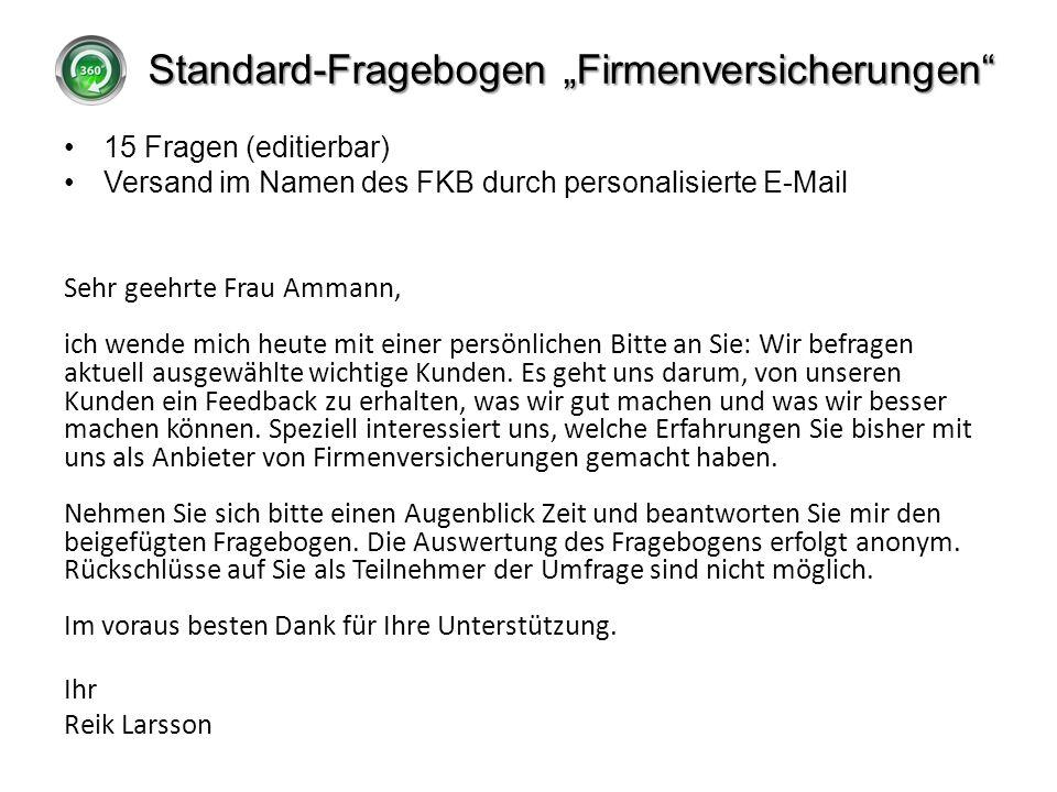 """Standard-Fragebogen """"Firmenversicherungen"""