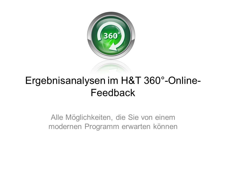 Ergebnisanalysen im H&T 360°-Online-Feedback