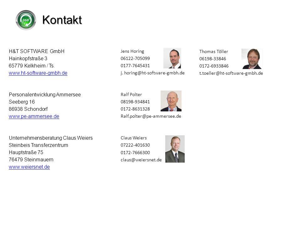 Kontakt H&T SOFTWARE GmbH Hainkopfstraße 3 65779 Kelkheim / Ts.