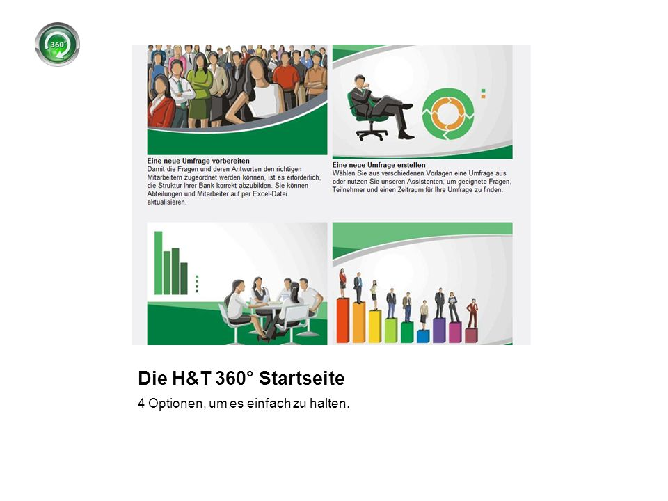 Die H&T 360° Startseite 4 Optionen, um es einfach zu halten.