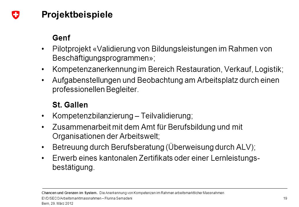 Projektbeispiele Genf
