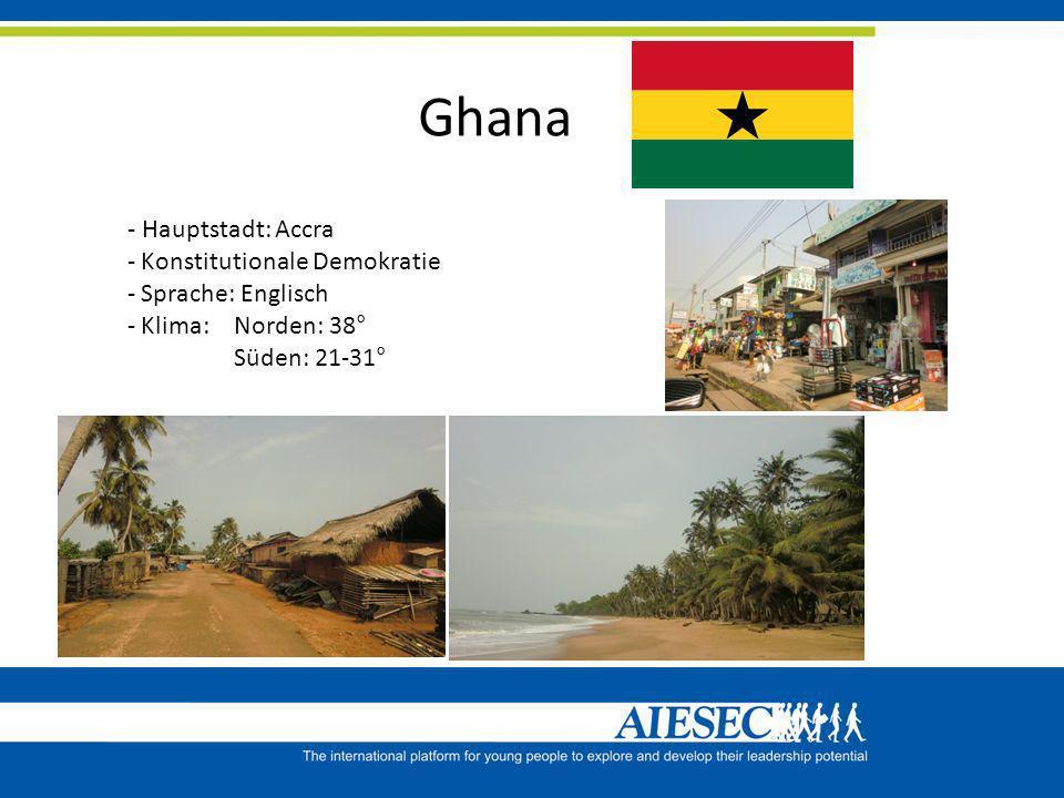 Ghana - Hauptstadt: Accra Konstitutionale Demokratie Sprache: Englisch