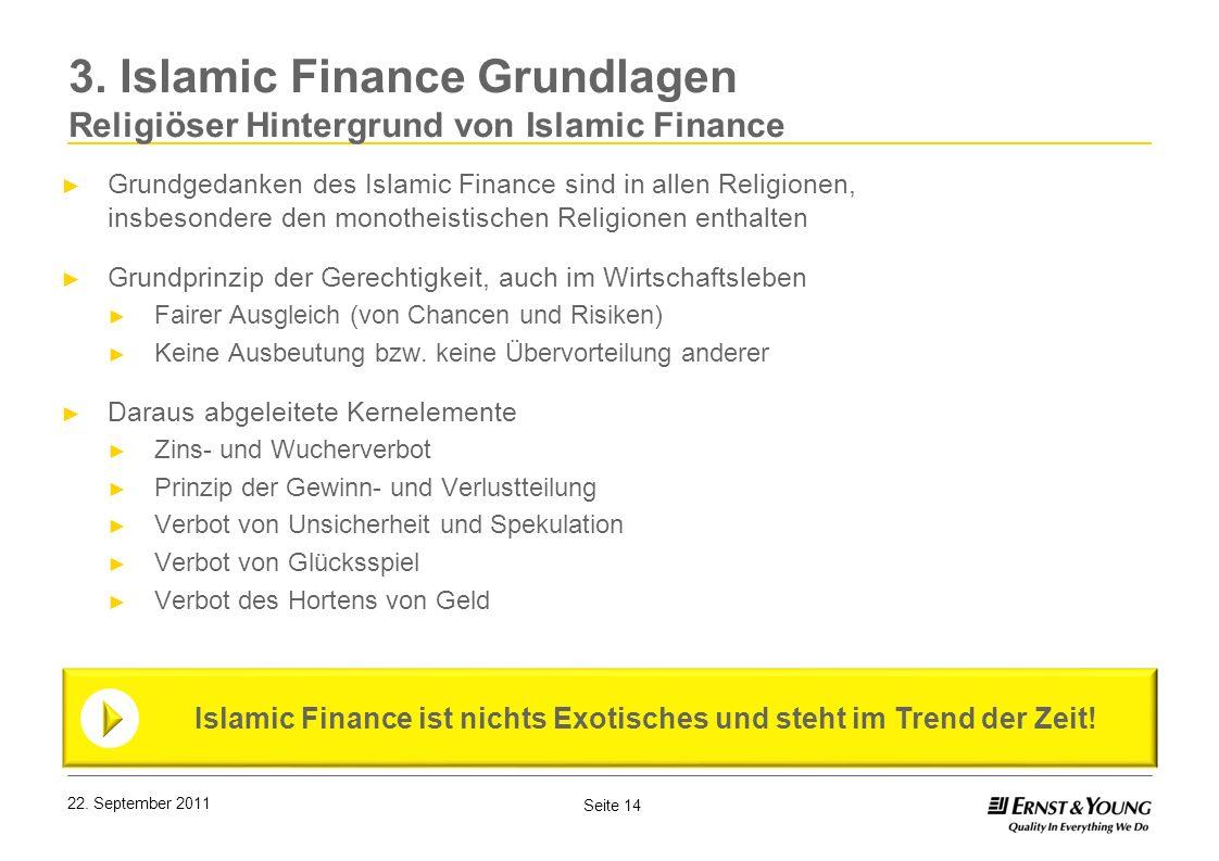 Islamic Finance ist nichts Exotisches und steht im Trend der Zeit!