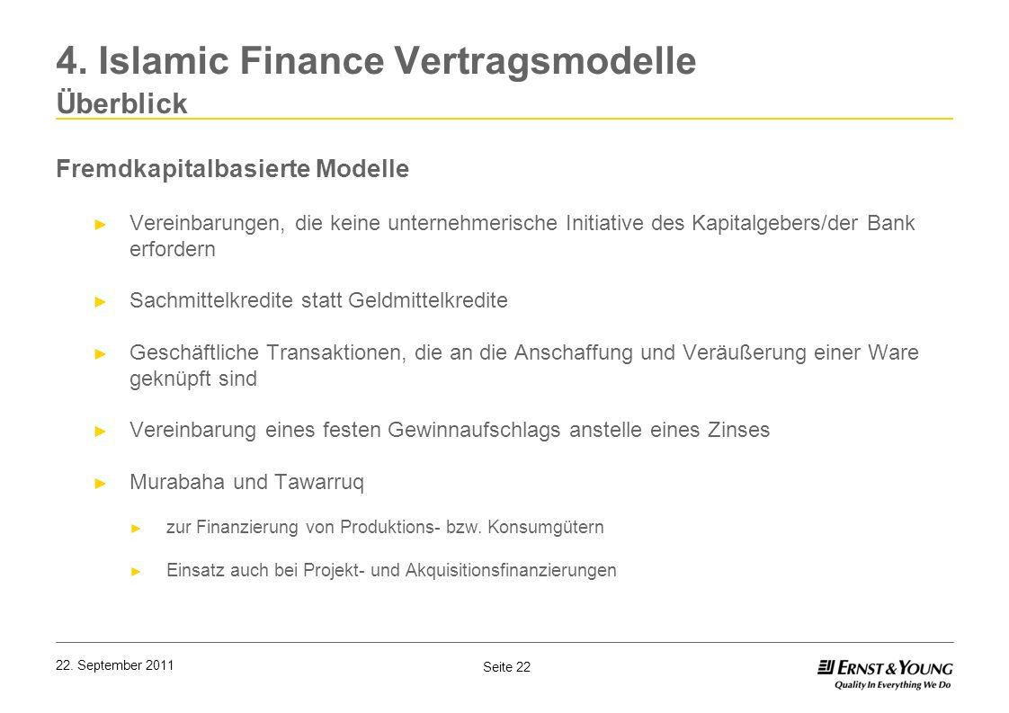 4. Islamic Finance Vertragsmodelle Überblick