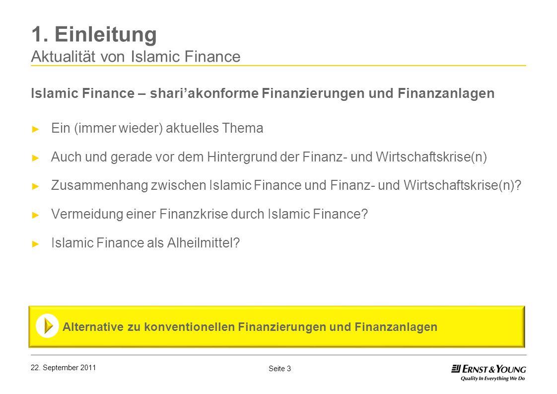 1. Einleitung Aktualität von Islamic Finance