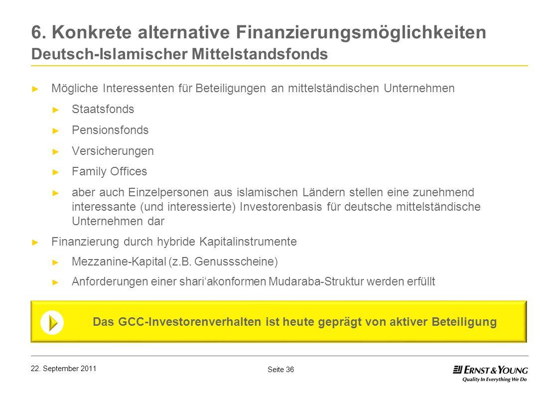 6. Konkrete alternative Finanzierungsmöglichkeiten Deutsch-Islamischer Mittelstandsfonds