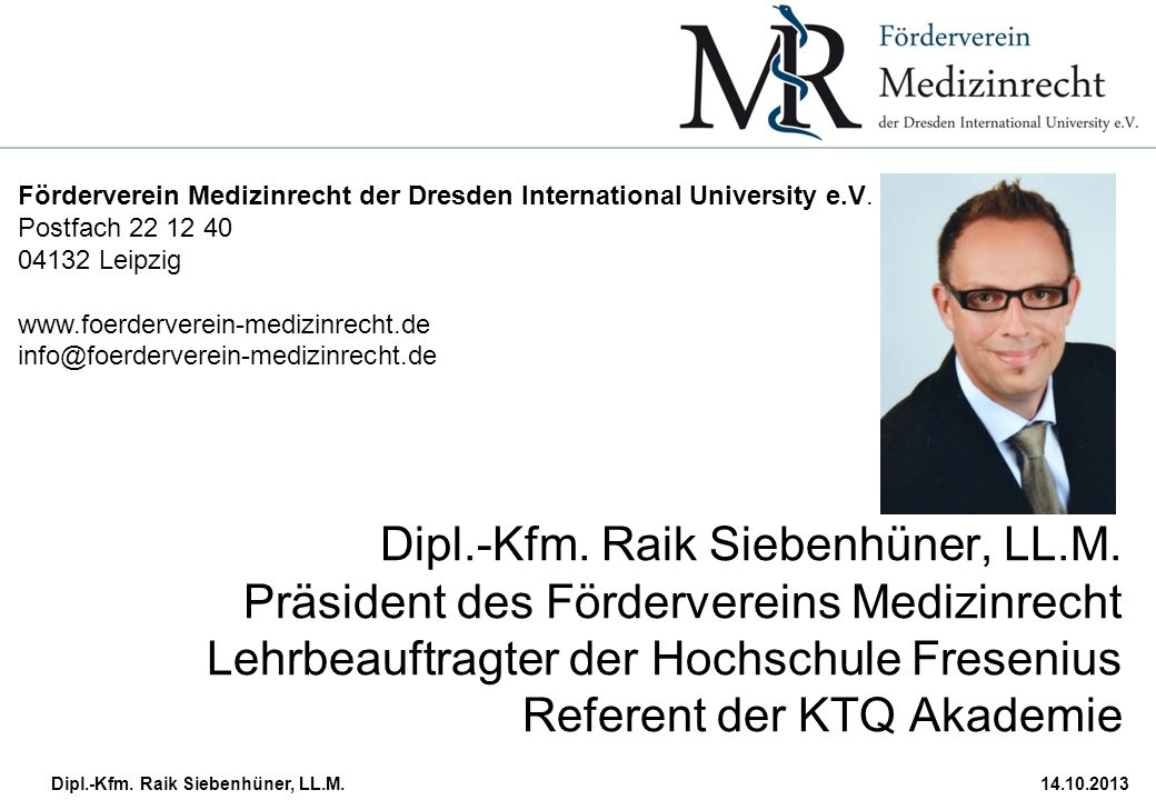 Förderverein Medizinrecht der Dresden International University e.V.
