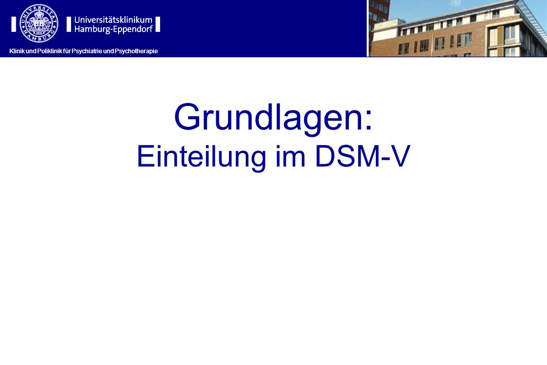 Grundlagen: Einteilung im DSM-V