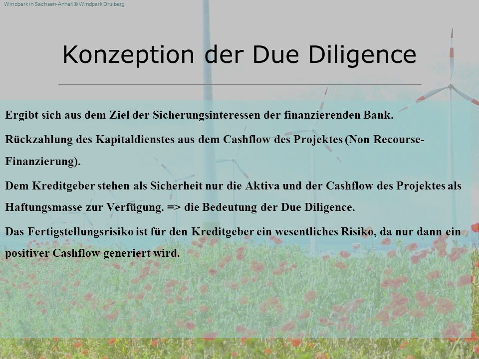 Konzeption der Due Diligence