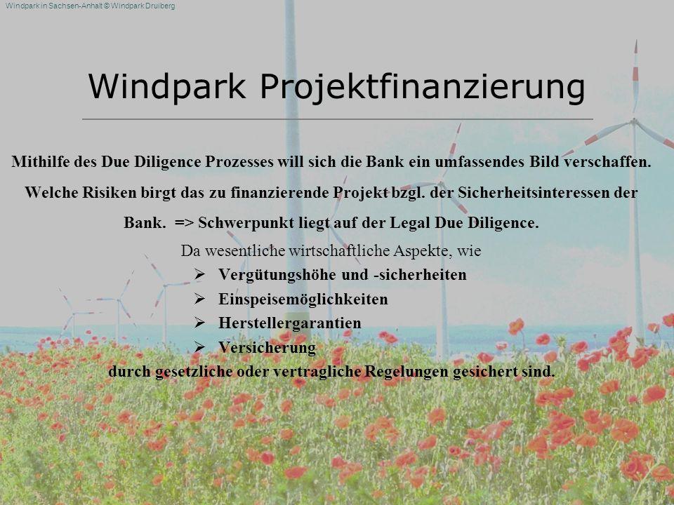 Windpark Projektfinanzierung