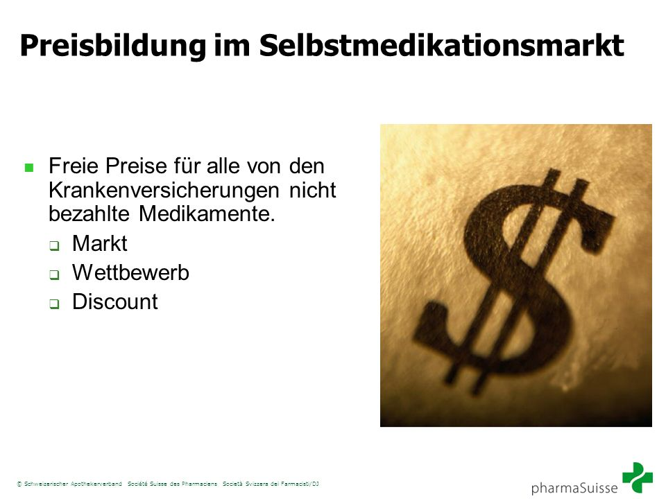 Preisbildung im Selbstmedikationsmarkt