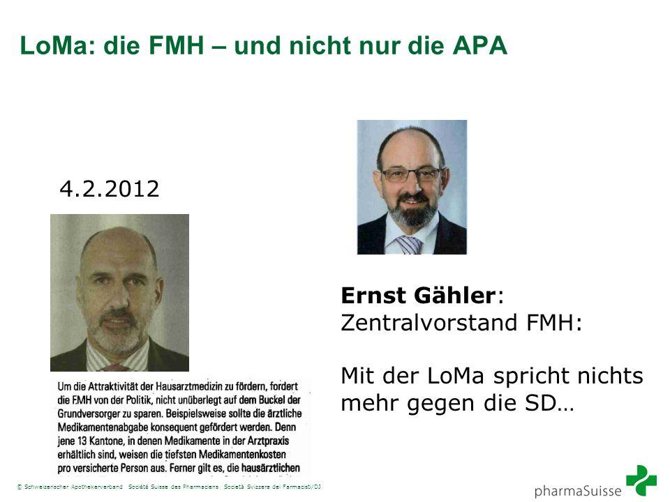 LoMa: die FMH – und nicht nur die APA