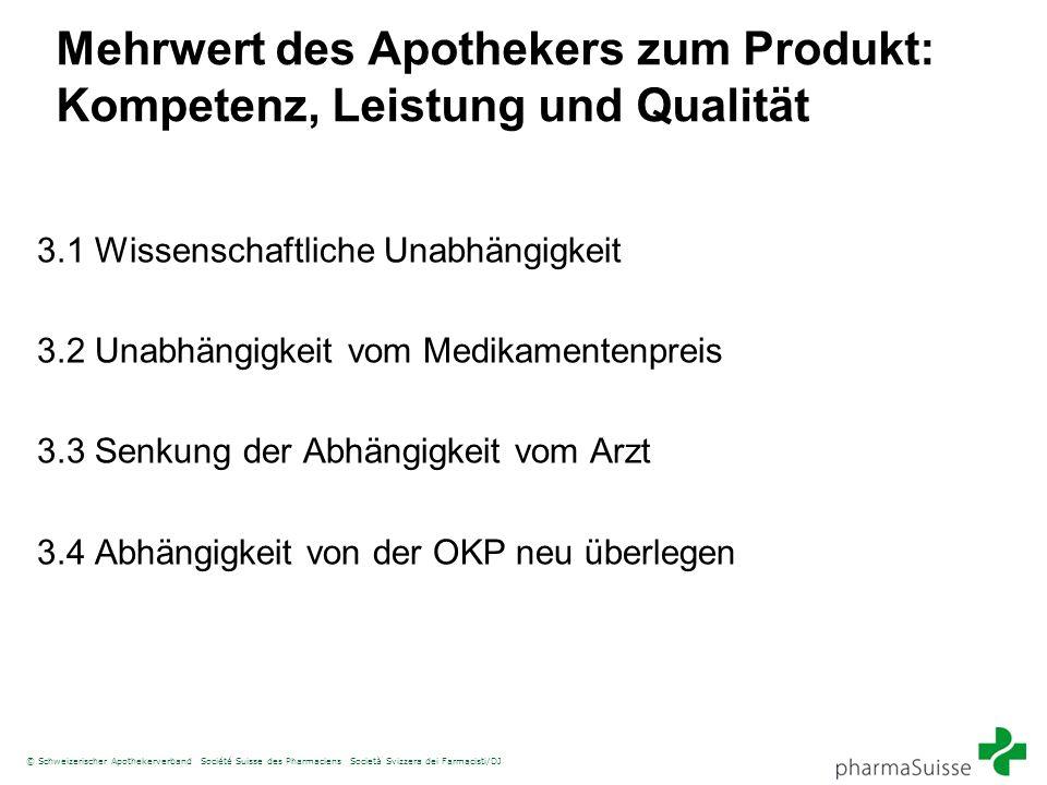 Mehrwert des Apothekers zum Produkt: Kompetenz, Leistung und Qualität